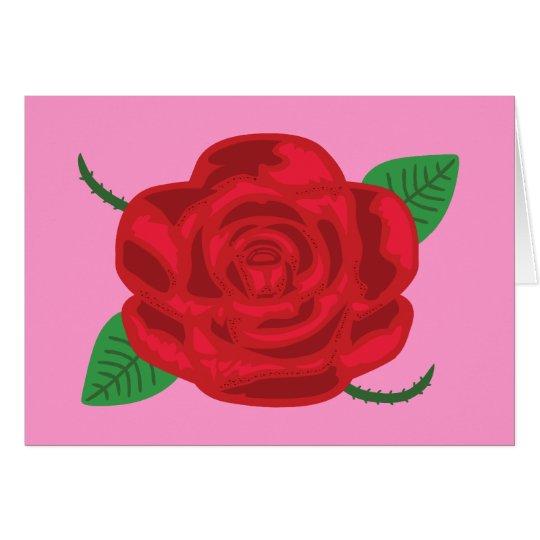 Pretty Red Rose Card