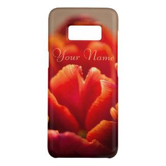 Pretty Red Tulip Petals. Add Your Name. Case-Mate Samsung Galaxy S8 Case