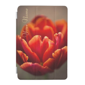 Pretty Red Tulip Petals. Add Your Name. iPad Mini Cover