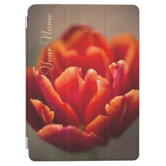 Pretty Red Tulip Petals. Add Your Name. iPad Pro Cover