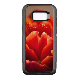 Pretty Red Tulip Petals. Add Your Name. OtterBox Commuter Samsung Galaxy S8+ Case