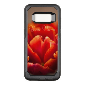 Pretty Red Tulip Petals. Add Your Name. OtterBox Commuter Samsung Galaxy S8 Case