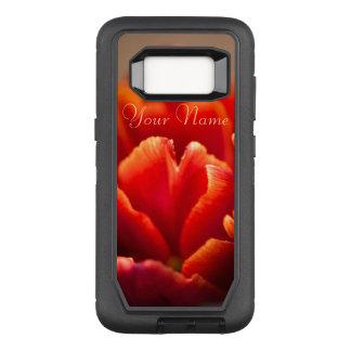 Pretty Red Tulip Petals. Add Your Name. OtterBox Defender Samsung Galaxy S8 Case