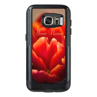 Pretty Red Tulip Petals. Add Your Name. OtterBox Samsung Galaxy S7 Case