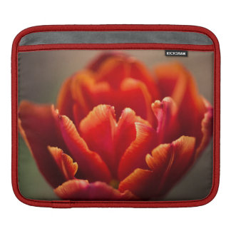 Pretty Red Tulip Petals photo. Add Your Name. iPad Sleeve