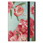 Pretty Retro Flower Personalized Monogram Chintz iPad Mini Case