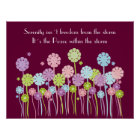 Pretty Retro Serenity Flowers & Butterflies Poster