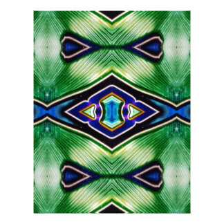 Pretty Rich Shades Of Green Blue Lavender Letterhead Template