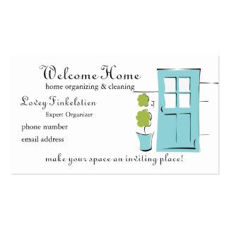 Pretty Robin s Egg Blue Door Business Card Template