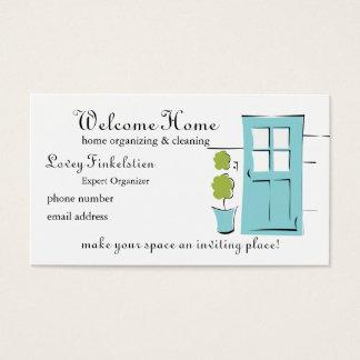 Pretty Robin's Egg Blue Door Business Card