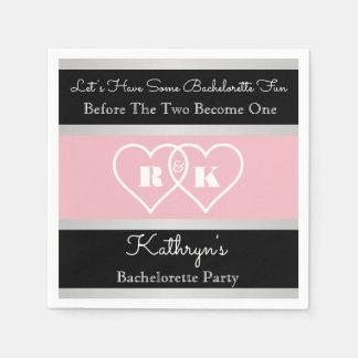 Pretty & Romantic Bachelorette Party Paper Napkin