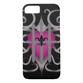 Pretty romantic heart iPhone 7 case
