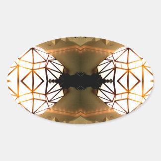 Pretty Romantic Unusual Nifty Abstract Design Oval Sticker
