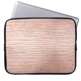 Pretty Rose & Copper Lines Laptop Sleeve
