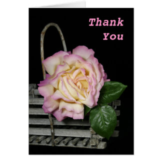 Pretty Rose Thank You Card