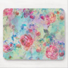 Pretty roses floral paint watercolors design mouse pad