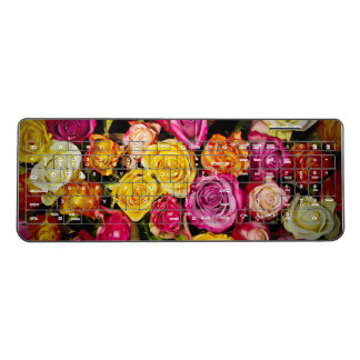 Pretty Roses Floral Wireless Keyboard