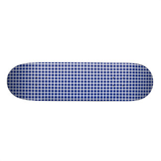 Pretty Royal Blue and White Gingham Check Pattern Skate Board Decks