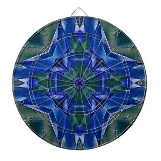 Pretty Royal Blue Cross Shape Pattern Dartboard