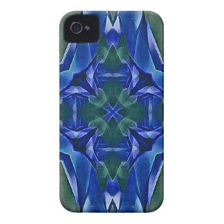 Pretty Royal Blue Cross Shape Pattern iPhone 4 Cover