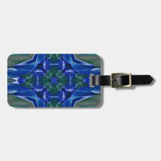 Pretty Royal Blue Cross Shape Pattern Luggage Tag
