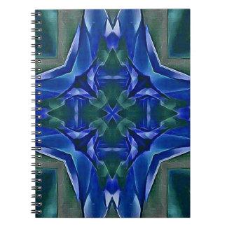 Pretty Royal Blue Cross Shape Pattern Notebook
