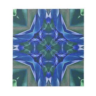 Pretty Royal Blue Cross Shape Pattern Notepad