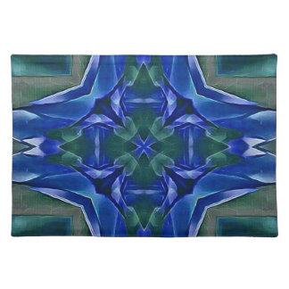 Pretty Royal Blue Cross Shape Pattern Placemat