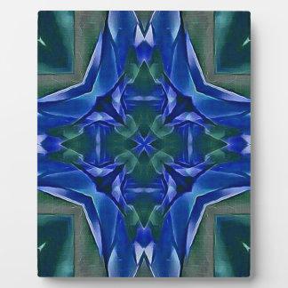 Pretty Royal Blue Cross Shape Pattern Plaque