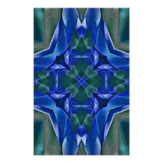 Pretty Royal Blue Cross Shape Pattern Stationery