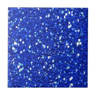 Pretty Royal Blue Sparkly Glitter Look Ceramic Tiles