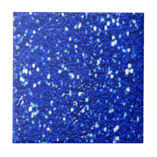 Pretty Royal Blue Sparkly Glitter Look Tile