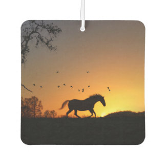 Pretty Running Horse and Birds Air Freshener