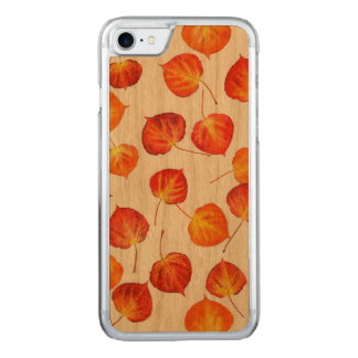 Pretty Rustic Autumn Leaves Carved iPhone 7 Case