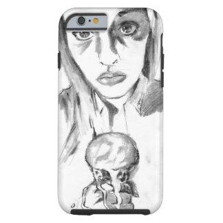 Pretty Sad Girl with Melting Ice Cream Cone Sketch Tough iPhone 6 Case