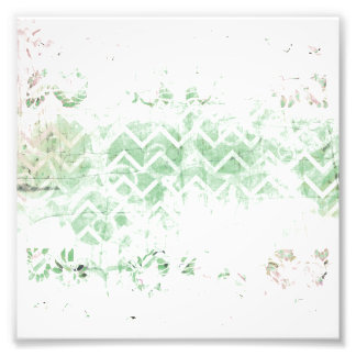 Pretty Sage and White Grunge Abstract Photo Print