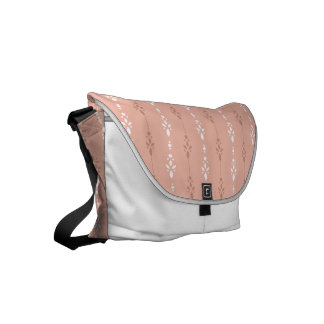 Pretty salmon pink crystal showers pattern commuter bags