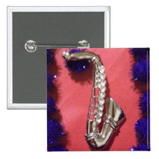 Pretty Saxophone Pinback Buttons