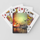 Pretty Scenic Sunset Lake Landscape Playing Cards
