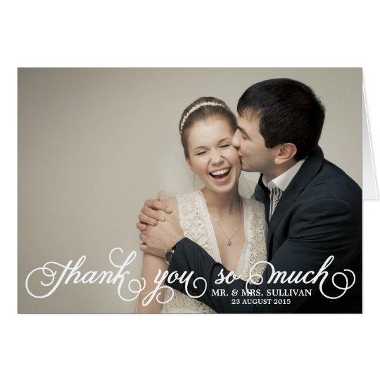 Pretty Script Wedding Thank You Card