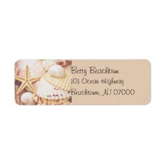 Pretty Seashell Address Labels