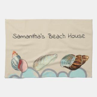 Pretty Seashells at the Beach Kitchen Towel