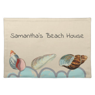 Pretty Seashells at the Beach Placemat