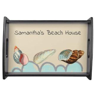 Pretty Seashells at the Beach Serving Tray