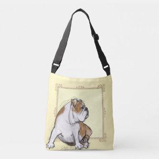 Pretty Sepia Bulldog Crossbody Bag
