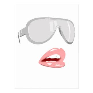 Pretty Shades & Lips Postcard