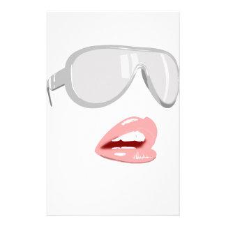 Pretty Shades & Lips Stationery