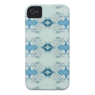 Pretty Shades of Blues In Modern Pattern Case-Mate iPhone 4 Case
