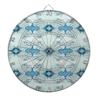 Pretty Shades of Blues In Modern Pattern Dartboard
