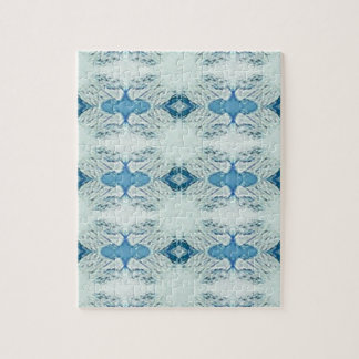 Pretty Shades of Blues In Modern Pattern Jigsaw Puzzle